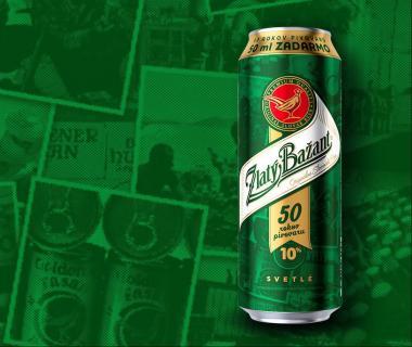 Zlatý Bažant 10% - Špeciálna edícia plechovky pri 50. výročí Hurbanovského pivovaru